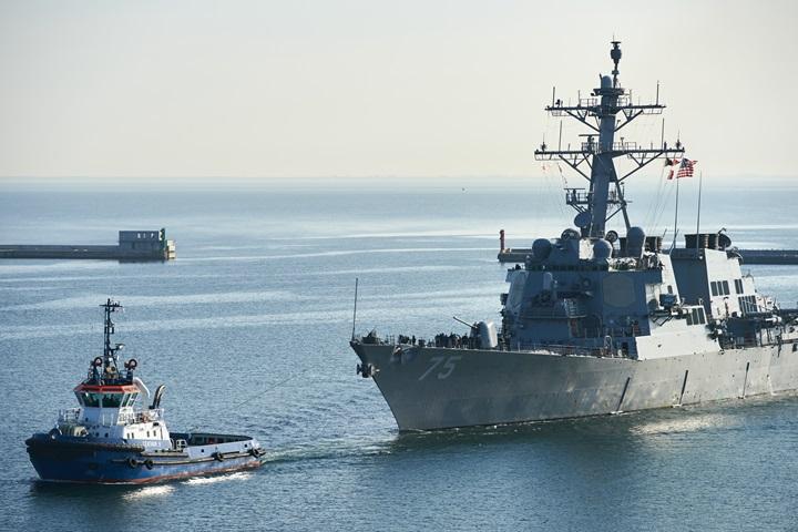 Amerykański niszczyciel USS Donald Cook wpłynął do portu w Gdyni