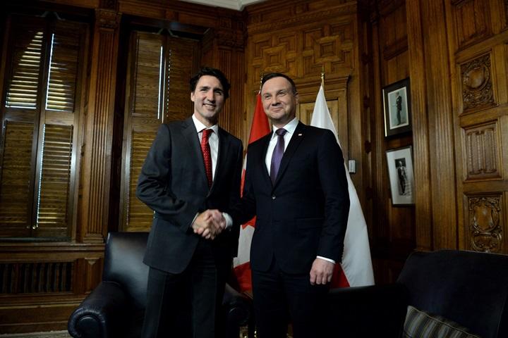 Kanada: Spotkania prezydenta Dudy z premierem Trudeau, korpusem dyplomatycznym i Polonią