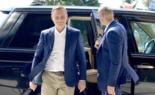 Prezydent w Arłamowie: Spotkał się z piłkarzami i z szefem PZPN