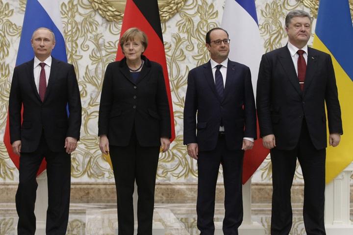 """Przywódcy """"normandzkiej czwórki"""" omówili sytuację na Ukrainie"""