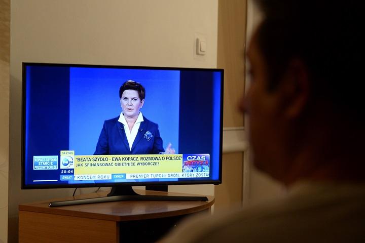 Sondaż: telewizja nadal głównym źródłem informacji dla Polaków