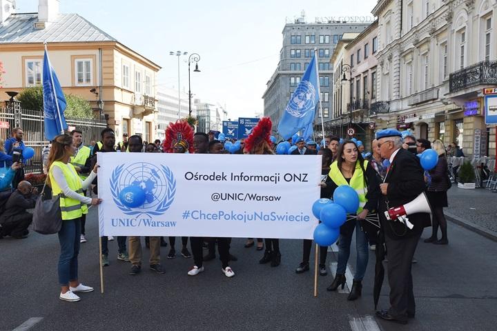Błękitny Marsz Pokoju przeszedł ulicami Warszawy