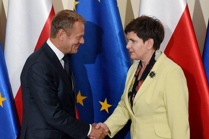 Spotkanie premier Szydło z szefem RE
