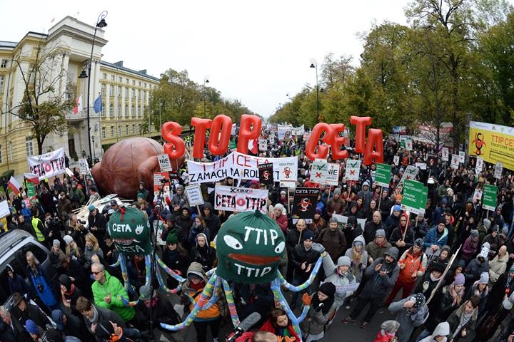 W Warszawie protest przeciw CETA i TTIP