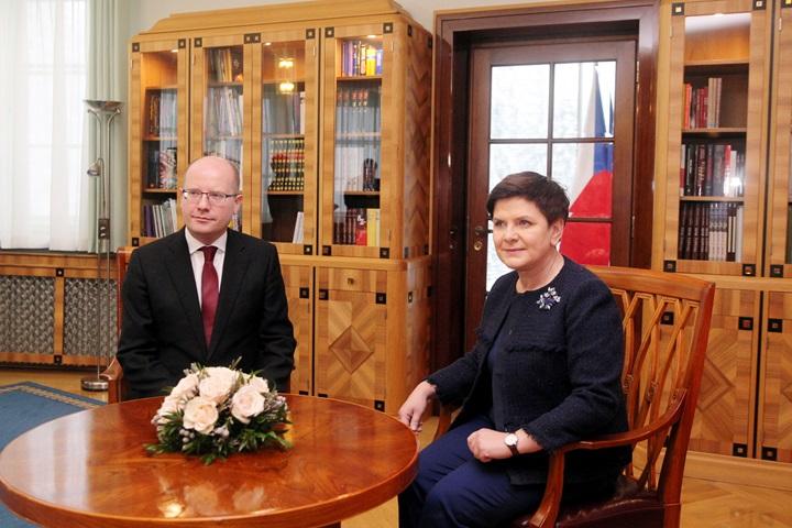 Premierzy Polski i Czech spotkali się w Wiśle