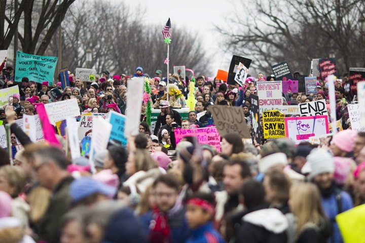 Od półtora miliona do 2 mln uczestników Marszu Kobiet w USA