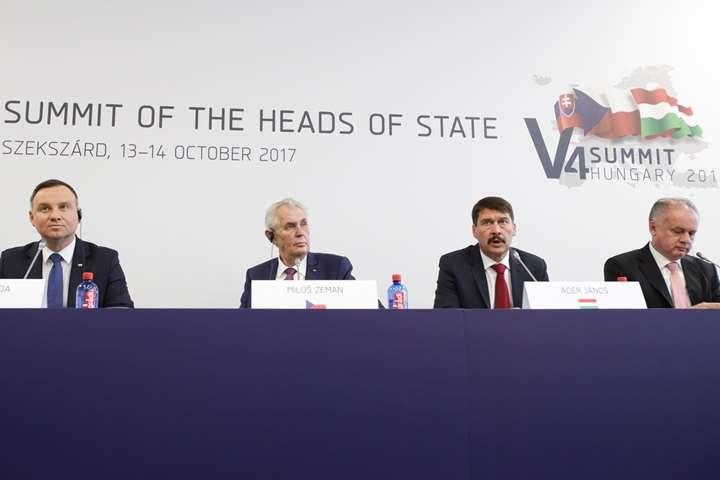 Prezydenci V4 za szybszą integracją Bałkanów Zach. z Unią