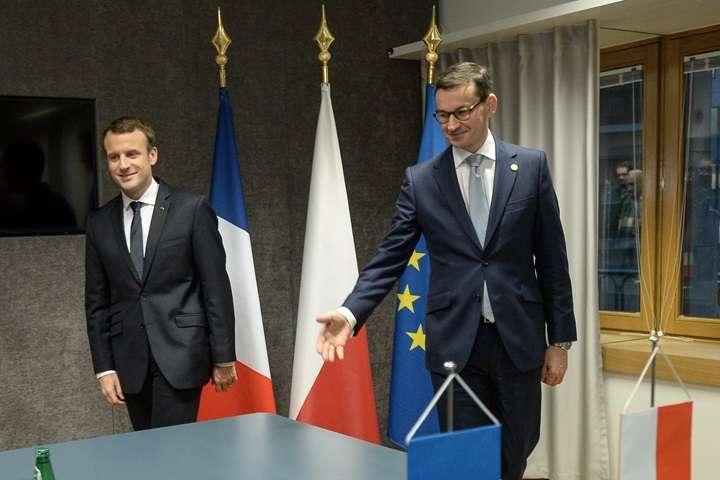 Spotkanie premiera Morawieckiego z prezydentem Macronem