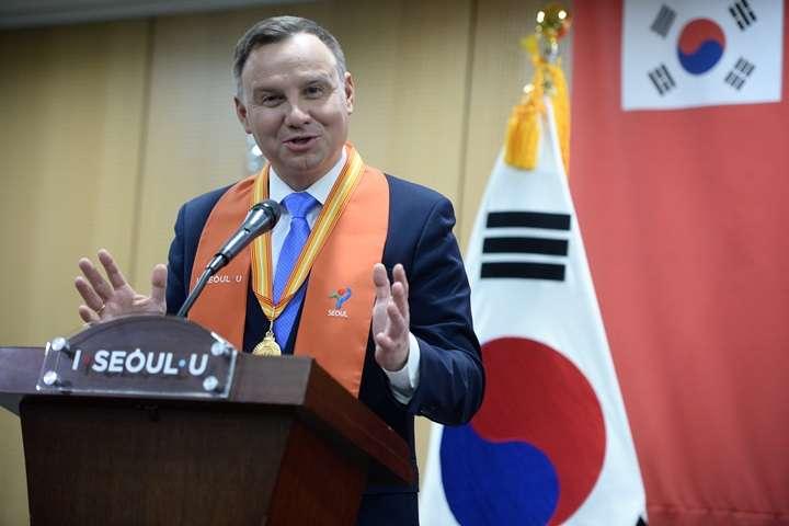 Prezydent Duda odebrał tytuł Honorowego Obywatela Seulu
