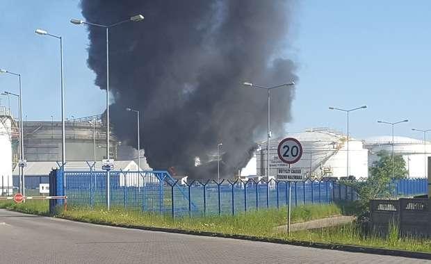 Gdańsk: Pożar na terenie rafinerii