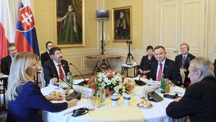 Spotkanie prezydentów państw Grupy Wyszehradzkiej w Czechach